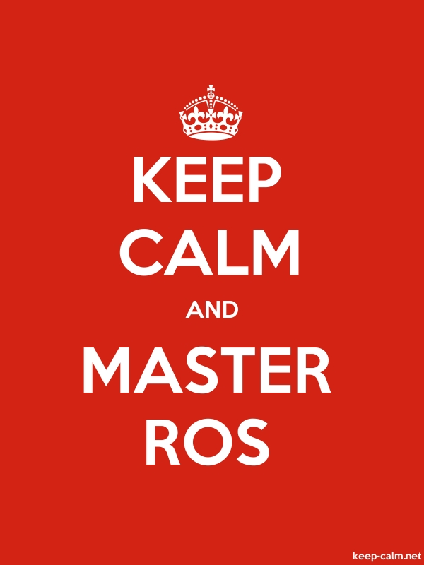KEEP CALM AND MASTER ROS - white/red - Default (600x800)