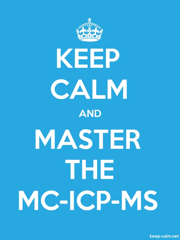 KEEP CALM AND MASTER THE MC-ICP-MS - white/blue - Default (600x800)