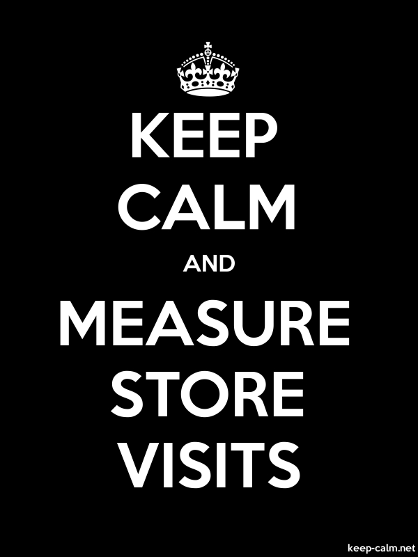 KEEP CALM AND MEASURE STORE VISITS - white/black - Default (600x800)