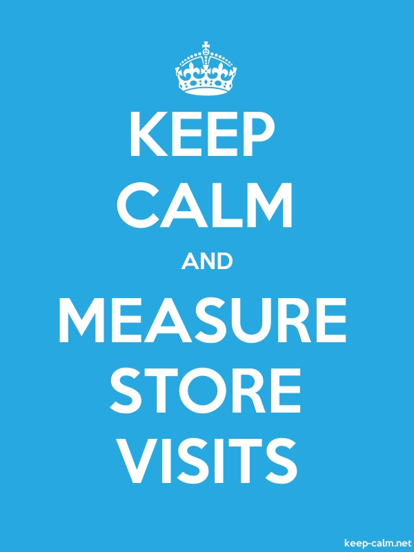 KEEP CALM AND MEASURE STORE VISITS - white/blue - Default (600x800)
