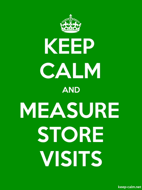 KEEP CALM AND MEASURE STORE VISITS - white/green - Default (600x800)