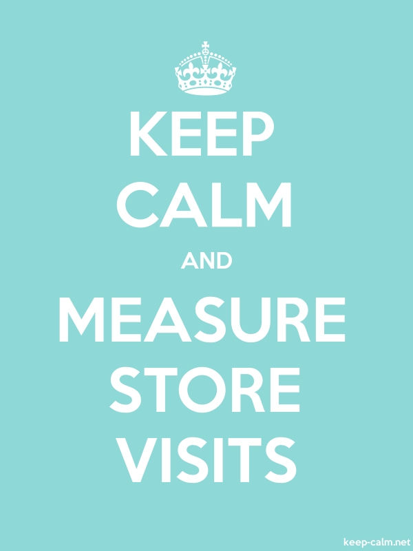 KEEP CALM AND MEASURE STORE VISITS - white/lightblue - Default (600x800)