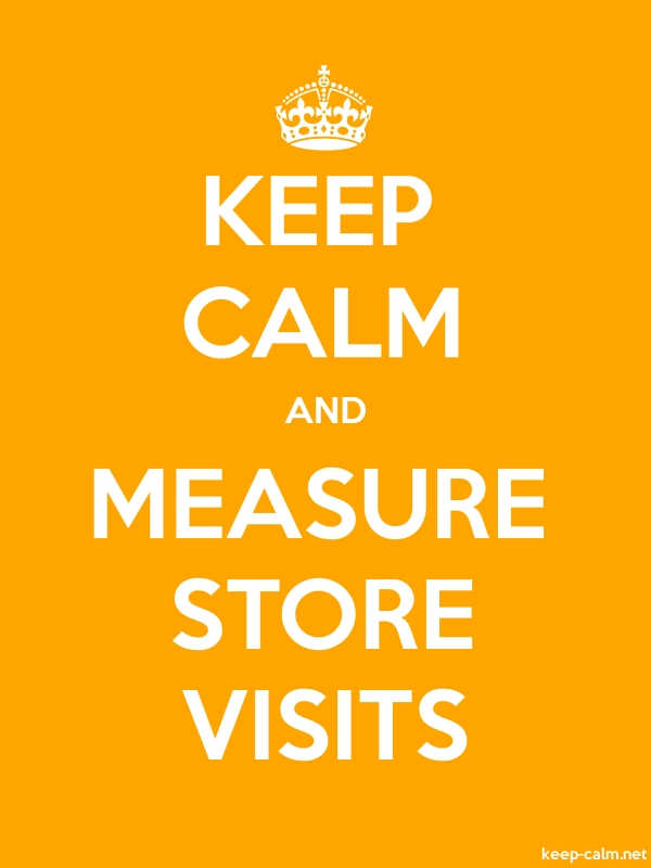 KEEP CALM AND MEASURE STORE VISITS - white/orange - Default (600x800)