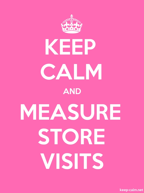 KEEP CALM AND MEASURE STORE VISITS - white/pink - Default (600x800)