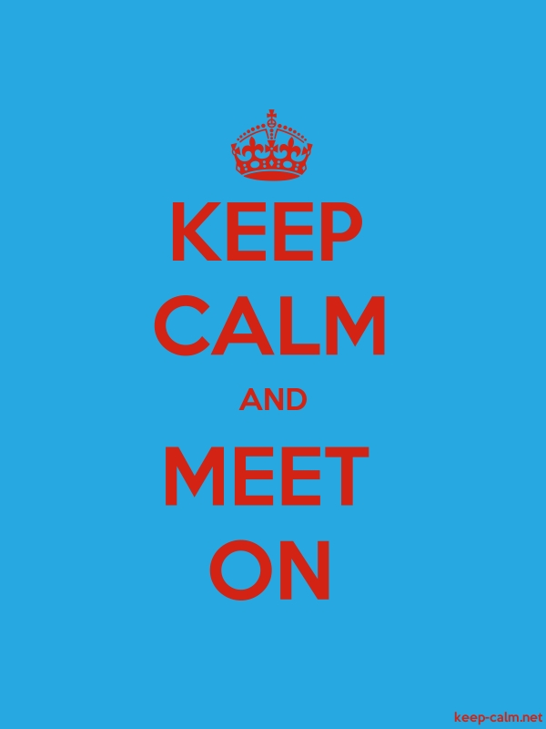 KEEP CALM AND MEET ON - red/blue - Default (600x800)