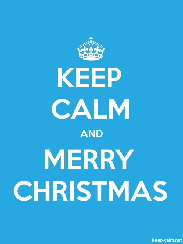 KEEP CALM AND MERRY CHRISTMAS - white/blue - Default (600x800)