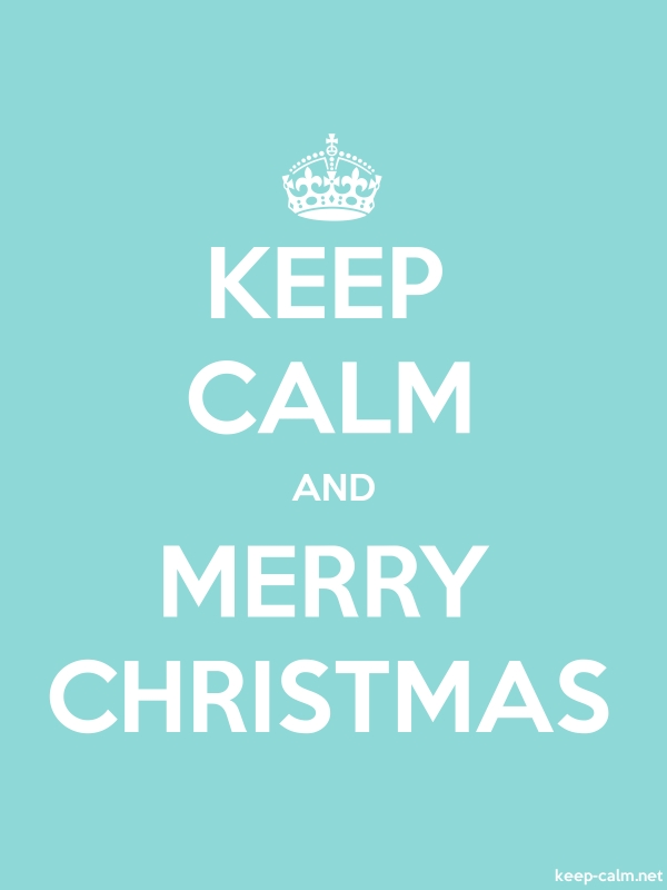 KEEP CALM AND MERRY CHRISTMAS - white/lightblue - Default (600x800)