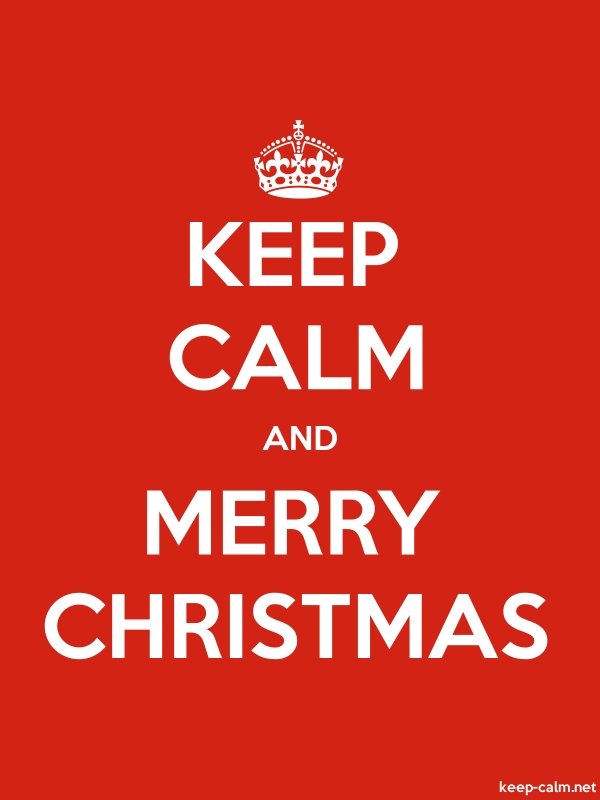 KEEP CALM AND MERRY CHRISTMAS - white/red - Default (600x800)