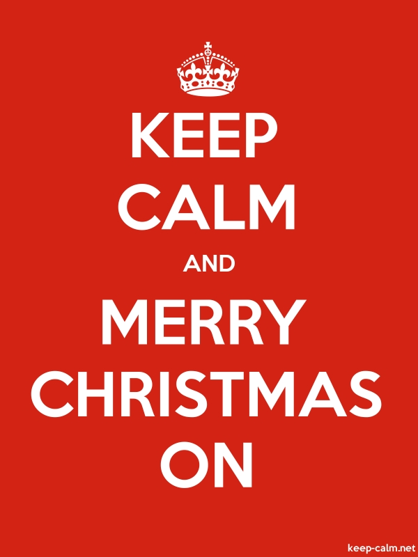 KEEP CALM AND MERRY CHRISTMAS ON - white/red - Default (600x800)