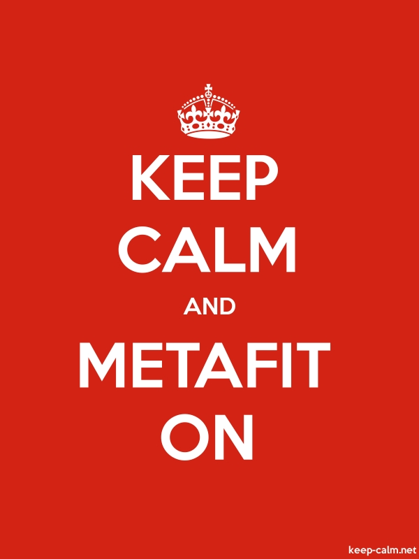 KEEP CALM AND METAFIT ON - white/red - Default (600x800)