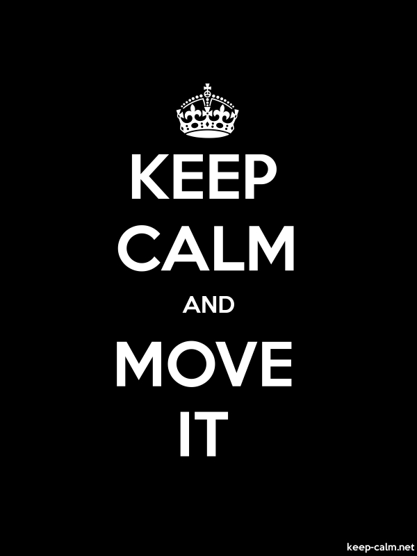 KEEP CALM AND MOVE IT - white/black - Default (600x800)