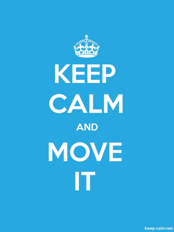 KEEP CALM AND MOVE IT - white/blue - Default (600x800)