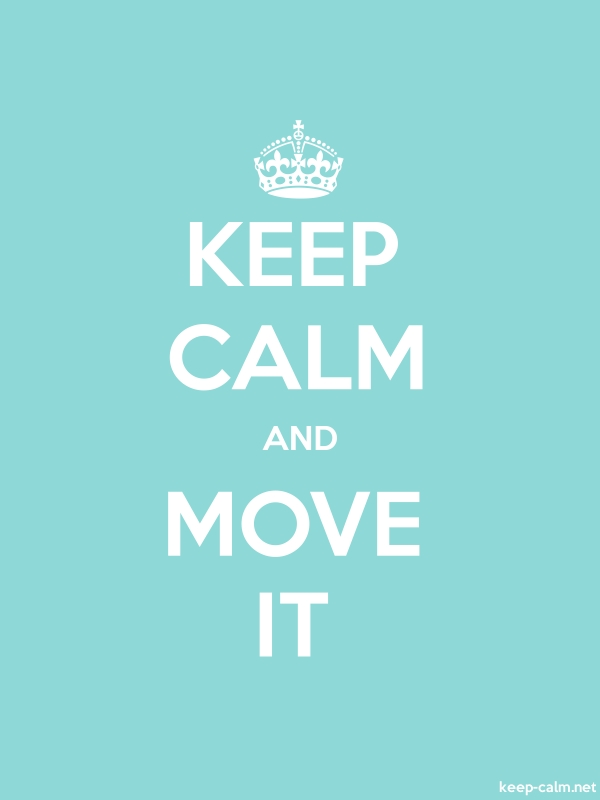 KEEP CALM AND MOVE IT - white/lightblue - Default (600x800)