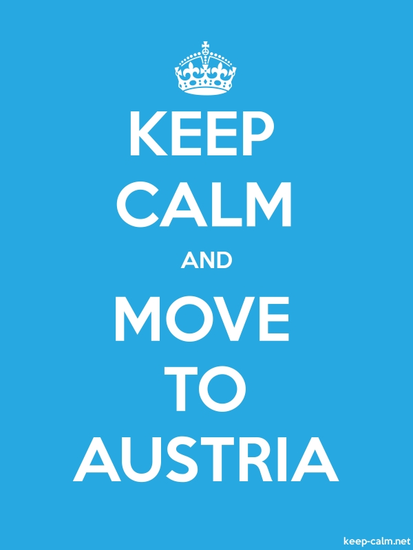 KEEP CALM AND MOVE TO AUSTRIA - white/blue - Default (600x800)
