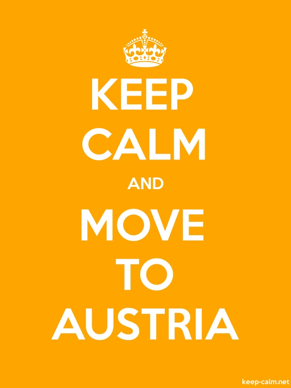 KEEP CALM AND MOVE TO AUSTRIA - white/orange - Default (600x800)