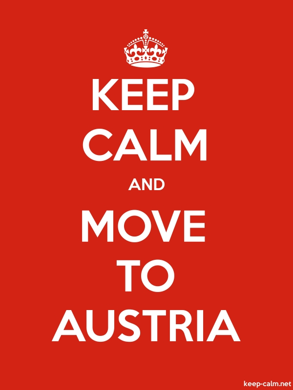 KEEP CALM AND MOVE TO AUSTRIA - white/red - Default (600x800)
