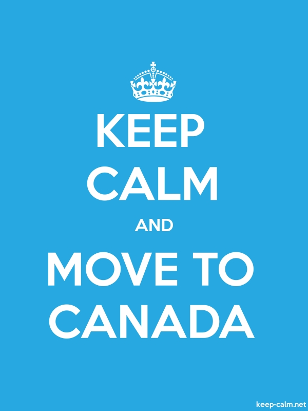 KEEP CALM AND MOVE TO CANADA - white/blue - Default (600x800)