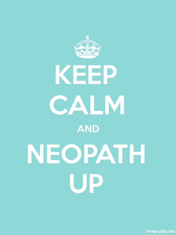 KEEP CALM AND NEOPATH UP - white/lightblue - Default (600x800)