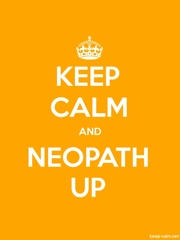 KEEP CALM AND NEOPATH UP - white/orange - Default (600x800)