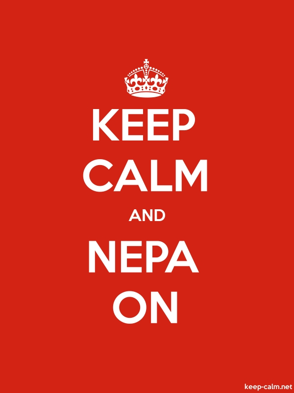 KEEP CALM AND NEPA ON - white/red - Default (600x800)