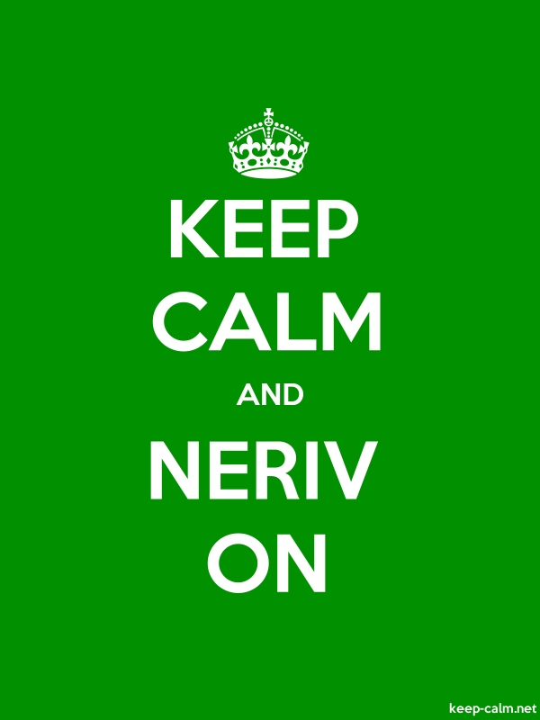 KEEP CALM AND NERIV ON - white/green - Default (600x800)