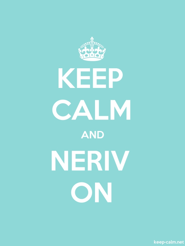KEEP CALM AND NERIV ON - white/lightblue - Default (600x800)