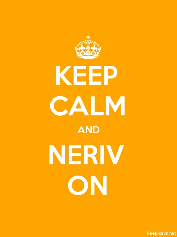 KEEP CALM AND NERIV ON - white/orange - Default (600x800)