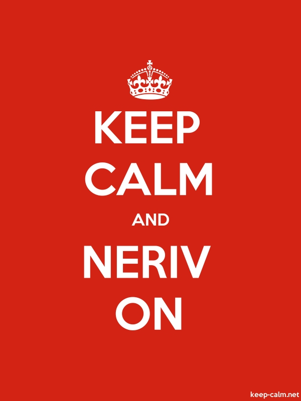 KEEP CALM AND NERIV ON - white/red - Default (600x800)