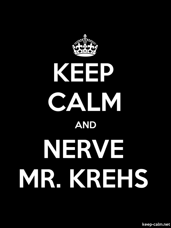 KEEP CALM AND NERVE MR. KREHS - white/black - Default (600x800)