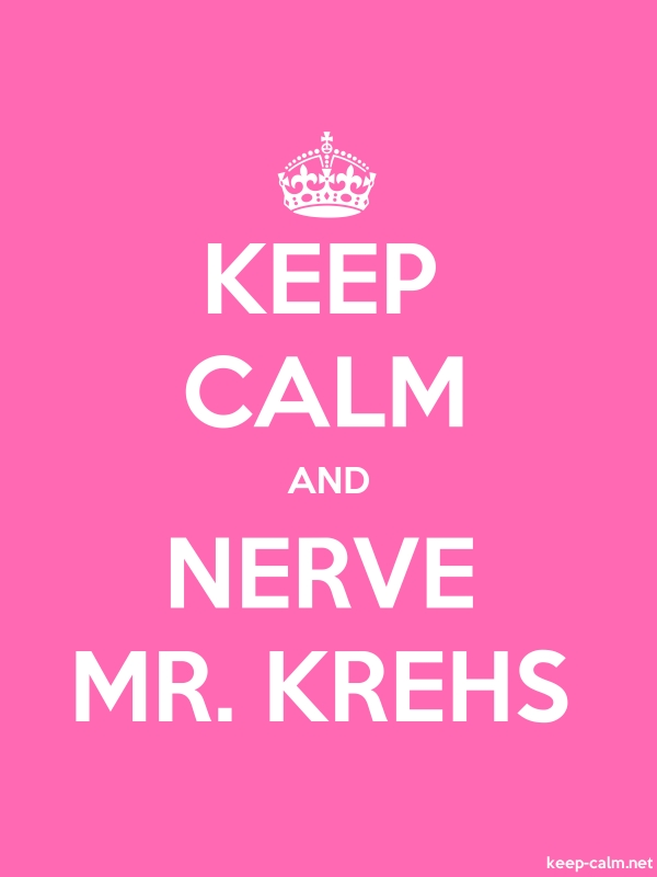 KEEP CALM AND NERVE MR. KREHS - white/pink - Default (600x800)