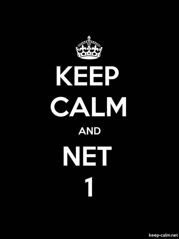 KEEP CALM AND NET 1 - white/black - Default (600x800)
