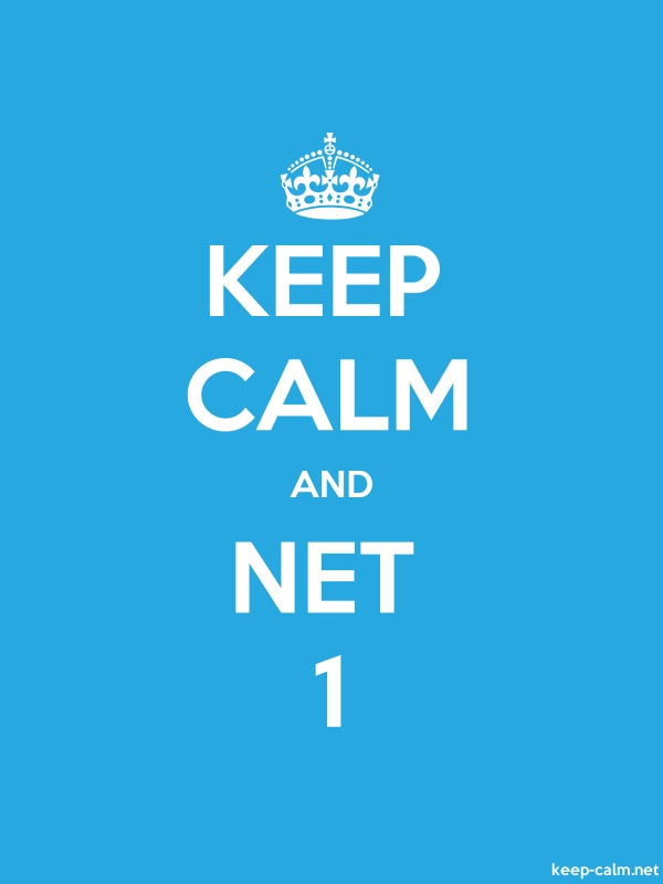 KEEP CALM AND NET 1 - white/blue - Default (600x800)