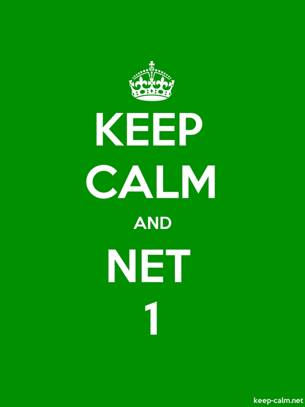 KEEP CALM AND NET 1 - white/green - Default (600x800)