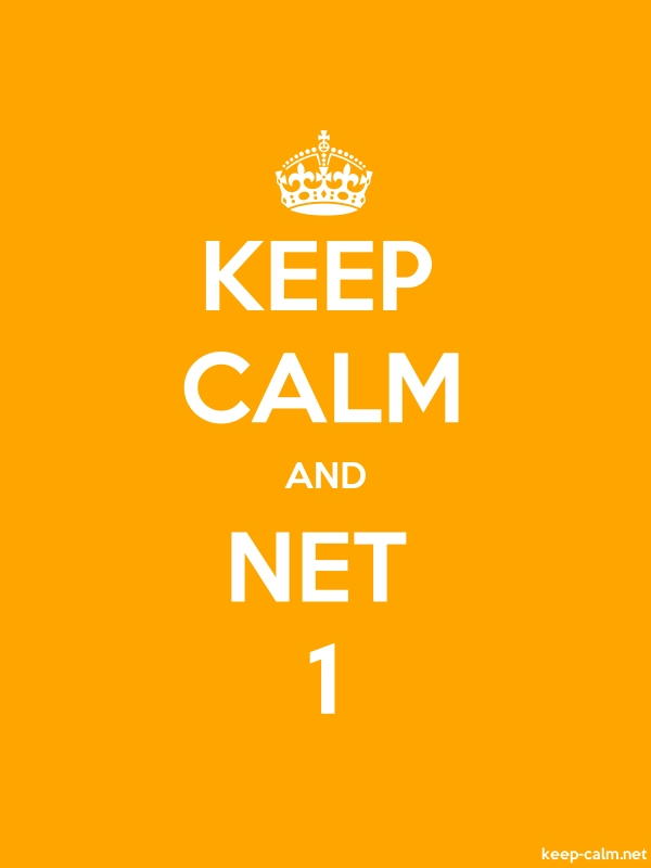 KEEP CALM AND NET 1 - white/orange - Default (600x800)