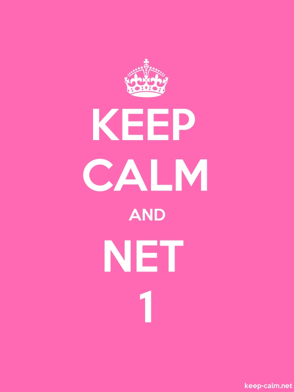KEEP CALM AND NET 1 - white/pink - Default (600x800)