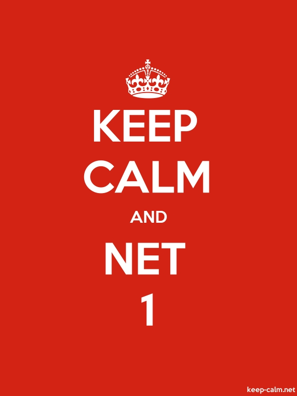 KEEP CALM AND NET 1 - white/red - Default (600x800)