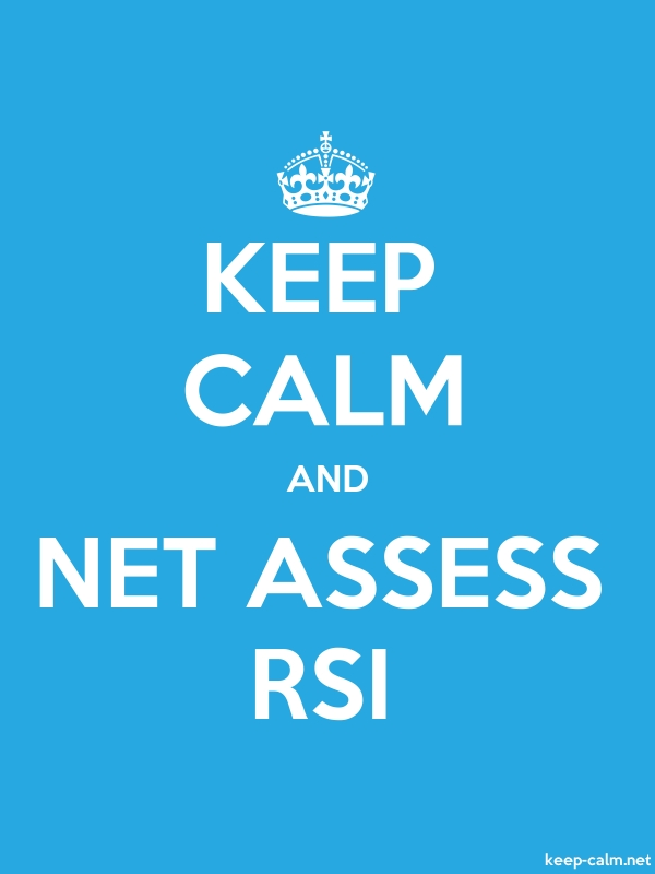 KEEP CALM AND NET ASSESS RSI - white/blue - Default (600x800)
