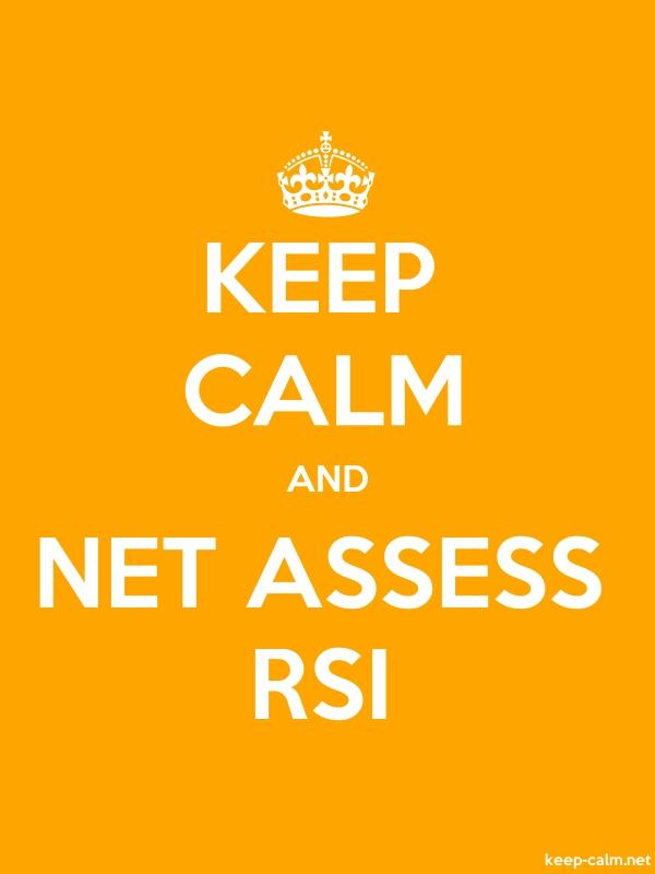 KEEP CALM AND NET ASSESS RSI - white/orange - Default (600x800)