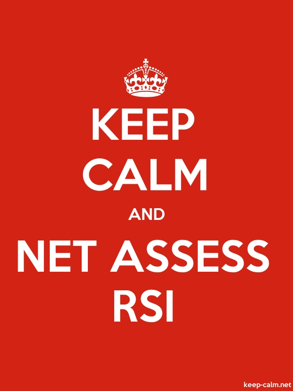 KEEP CALM AND NET ASSESS RSI - white/red - Default (600x800)
