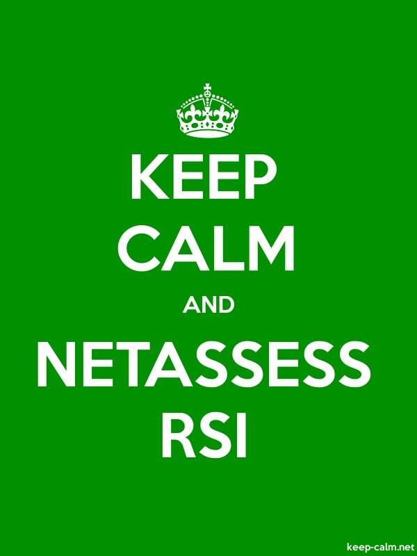 KEEP CALM AND NETASSESS RSI - white/green - Default (600x800)