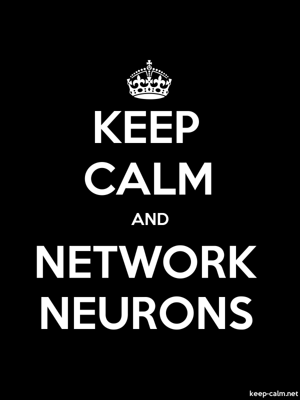 KEEP CALM AND NETWORK NEURONS - white/black - Default (600x800)