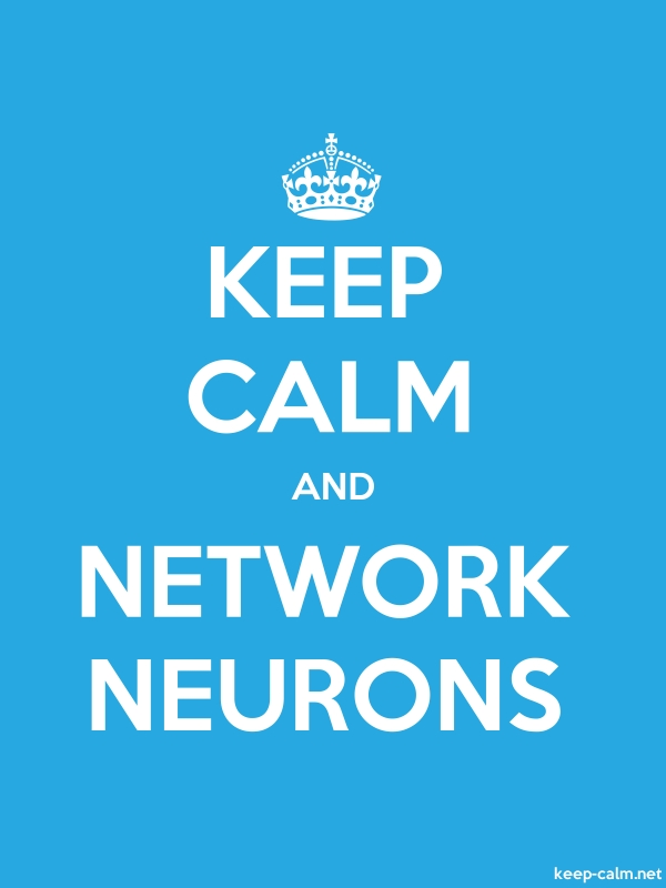 KEEP CALM AND NETWORK NEURONS - white/blue - Default (600x800)