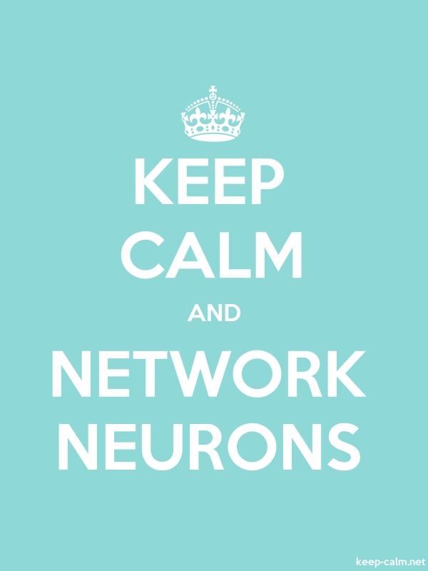 KEEP CALM AND NETWORK NEURONS - white/lightblue - Default (600x800)