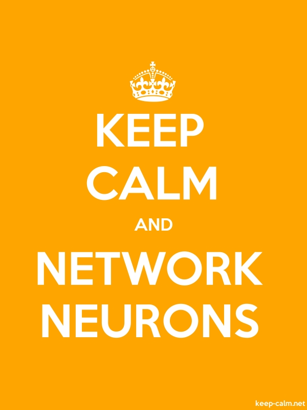 KEEP CALM AND NETWORK NEURONS - white/orange - Default (600x800)