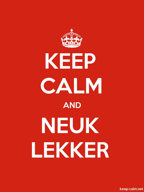 KEEP CALM AND NEUK LEKKER - white/red - Default (600x800)