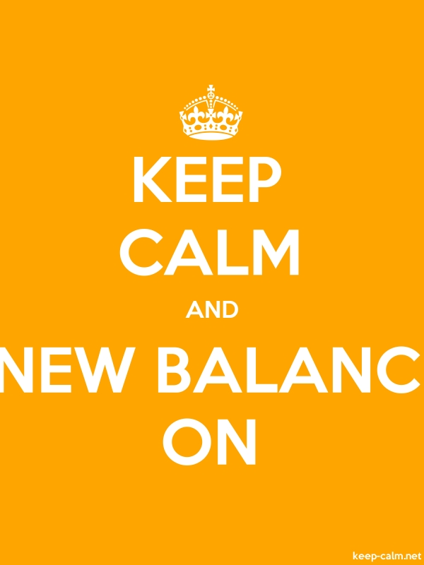 KEEP CALM AND NEW BALANC ON - white/orange - Default (600x800)