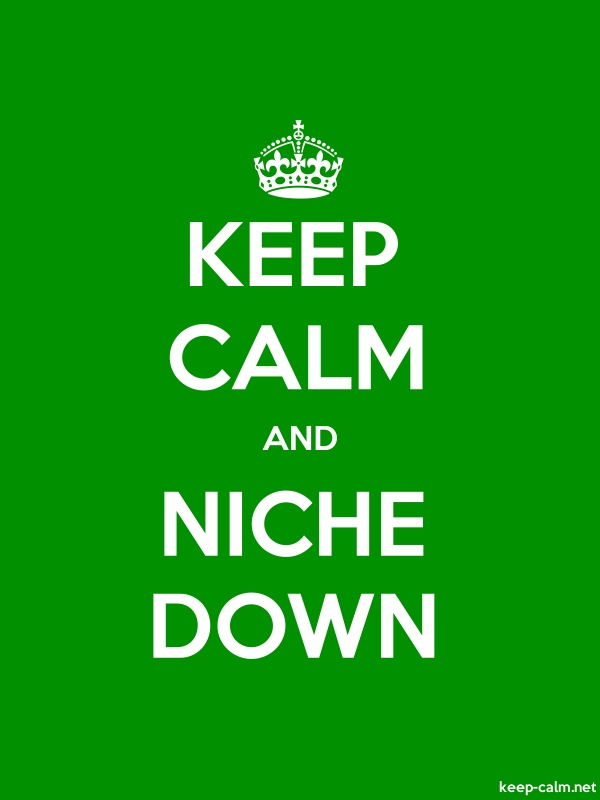 KEEP CALM AND NICHE DOWN - white/green - Default (600x800)