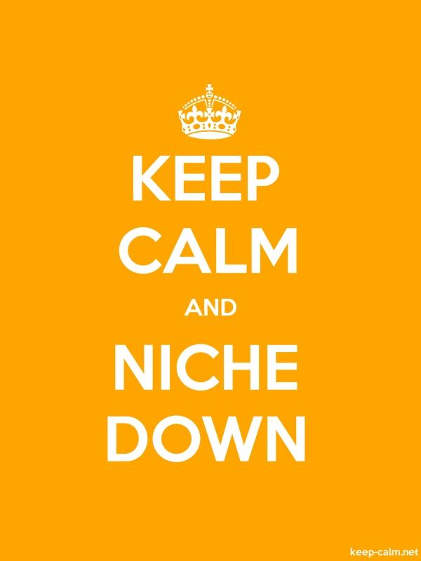 KEEP CALM AND NICHE DOWN - white/orange - Default (600x800)