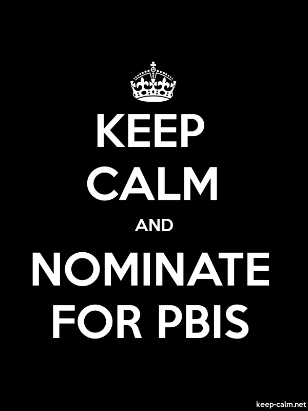KEEP CALM AND NOMINATE FOR PBIS - white/black - Default (600x800)