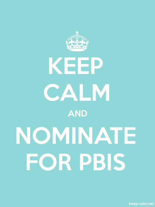 KEEP CALM AND NOMINATE FOR PBIS - white/lightblue - Default (600x800)